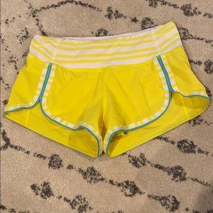 Rare lululemon run shorts